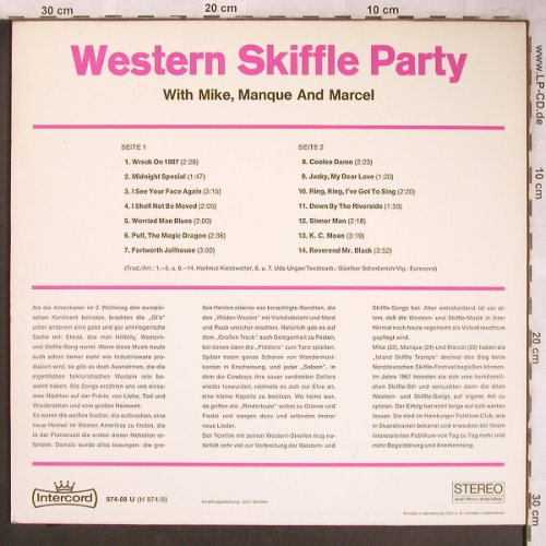 Western Skiffle-Party: Same, with Mike,Manque and Marcel, Intercord(974-08 U), D,  - LP - X4821 - 5,50 Euro