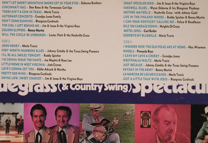 V.A.Bluegrass & Country Swing: Osbourne Brozhers..Bluegr.Cardinals, CMH(CMH-5902), US, Foc, 1980 - 2LP - X4963 - 9,00 Euro