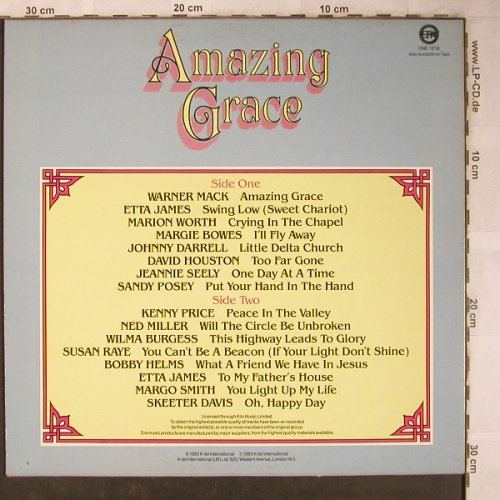 V.A.Amazing Grace: Warner Mack...Skeeter Davis, K-tel(ONE 1218), UK, 1983 - LP - X5131 - 5,50 Euro
