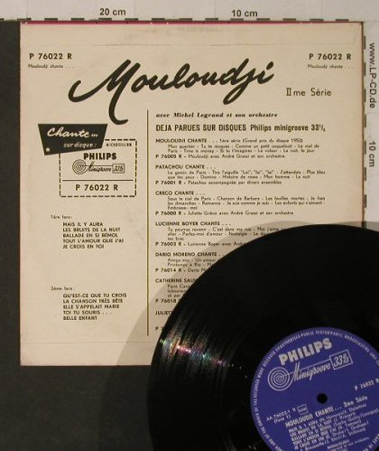 Mouloudji: II-Chante ses derniers succes, Philips(P 76022 R), F, vg+/m-,  - 10inch - F5298 - 5,00 Euro