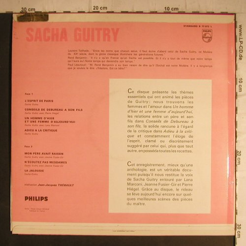 Guitry,Sacha: Collection TheatreL'Esprit de Paris, Philips(B 77.972 L), F,  - LP - F7142 - 15,00 Euro