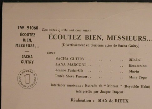 Guitry,Sacha - Lana Marconi: Ecoutez Bien, Messieurs, Box, co, London International(TW 91060/1), UK,  - 2LP - F7143 - 20,00 Euro