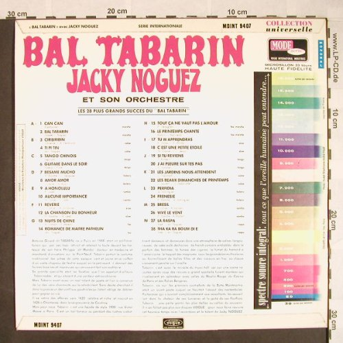 Noguez,Jacky et son Orchestre: Bal Tabarin, m-/vg+, Mode Serie(MDINT 9407), F,  - LP - F9869 - 7,50 Euro