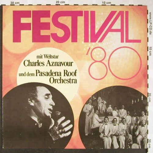 "Aznavour,Charles/Pasaena Roof Orch.: Festival'80 ""Herrenhäuser"", Metronome Sonderauflage(0902.015), D,  - LP - H1668 - 5,00 Euro"