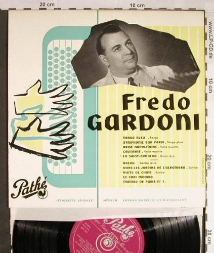 Gardoni,Fredo   et son Ensemble: Dancing-Musette, Pathe(33 AT 1022), F,  - LP - H168 - 9,00 Euro