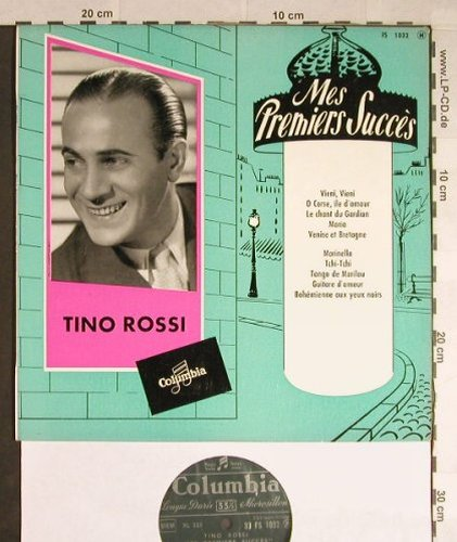 Rossi,Tino: Mes Premiers Succes, vg+/m-, Columbia(33 FS 1032), F,  - 10inch - H184 - 6,00 Euro
