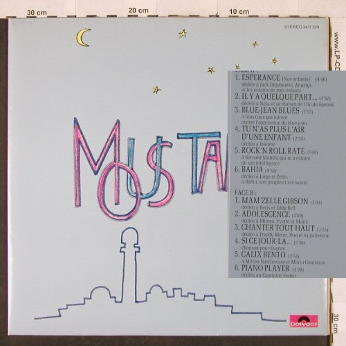 Moustaki,Georges: Same, Foc, Polydor(2417 319), D, 1977 - LP - H3162 - 7,50 Euro