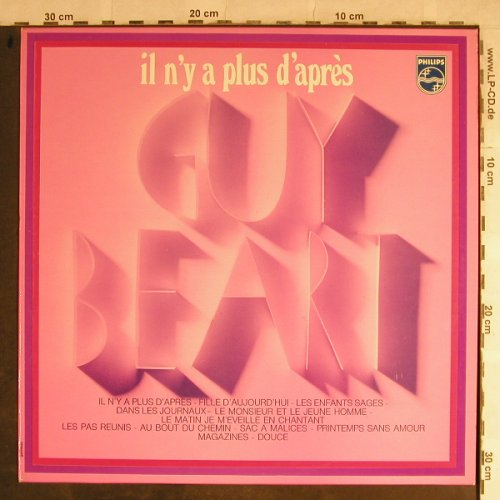 Guy Beart: il n'y a plus d'apres, woc,stoc, Philips(6511 051), F,  - LP - H9031 - 5,50 Euro