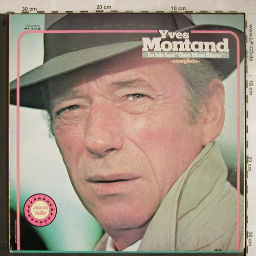 Montand,Yves: One Man Show, complete, woc,stoc, Vanguard(VSD 63/64), US, Foc, 1974 - 2LP - H9136 - 6,00 Euro