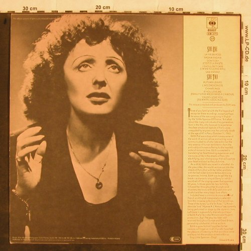 Piaf,Edith: The Great, CBS(CBS 85 007), NL, 1981 - LP - H9941 - 6,00 Euro