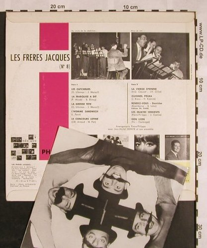 Les Freres Jacques: Same (No.8), Booklet, Philips(B 76.527 R), F, Mono,  - 10inch - X1132 - 7,50 Euro
