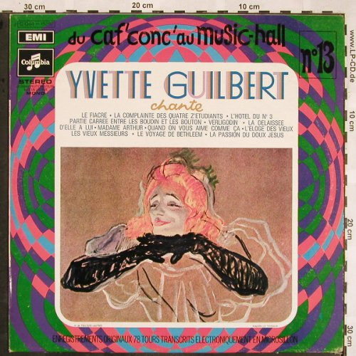 Guilbert,Yvette: Chante, No.13,  Stoc, Columbia(C 054-15287), F,  - LP - X1312 - 7,50 Euro