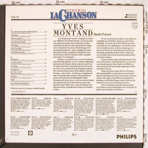 Montand,Yves: Edition La Chanson Vol.IV, Philips(9198 363), D, Ri, 1962 - LP - X3801 - 6,00 Euro
