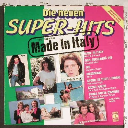 V.A.Die Neuen Super-Hits: Made in Italy, K-tel(TG 1395), D, 1982 - LP - H109 - 4,00 Euro
