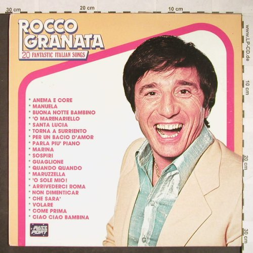 Granata,Rocco: 20 Fantastic Italian Songs, Pass Port(LPPS 11.124), I, 1981 - LP - H52 - 5,00 Euro