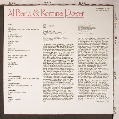 Bano,Al & Romina Power: Same, Amiga(8 56 450), DDR, 1989 - LP - X5415 - 6,00 Euro