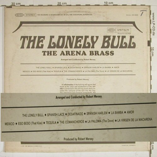Arena Brass: The Lonely Bull, vg+/vg+, Epic(BN 26039), US,  - LP - C7415 - 4,00 Euro