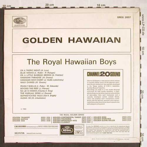 Royal Hawaiian Boys: Golden Hawaiian, vg+/vg+, Regal(SREG 2057), UK,  - LP - F9659 - 4,00 Euro