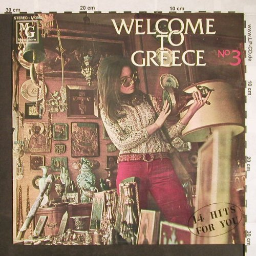 V.A.Welcome To Greece No.3: Mrs.Georgina,Themis Zervas...14 Tr., Margophone(MARGO 8033), GR,  - LP - F9694 - 5,50 Euro