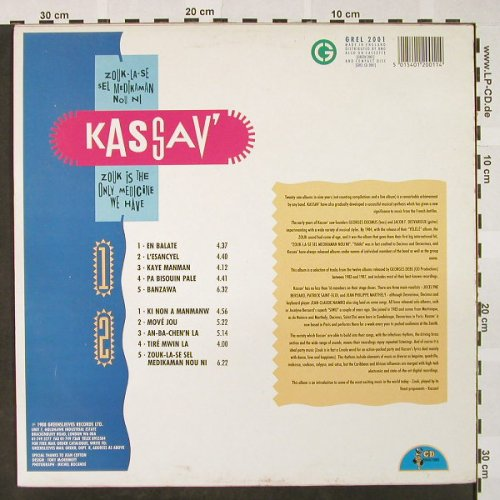 Kassav': Zouk Is The Only Medicine We Have, Greensleeves Rec.(GREL 2001), UK, 1988 - LP - H4217 - 6,50 Euro