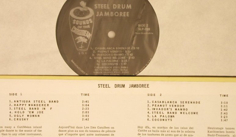 V.A.Steel Drum Jamboree: CasablSteelBand,BruteForce,badSound, Sounds of the Caribbean(SLP 728), US,  - LP - H5923 - 7,50 Euro