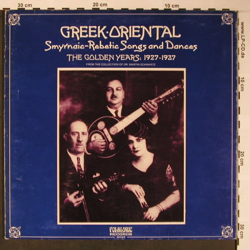 V.A.Greek Oriental 1927-1937: Smyrnaic-Rebetic Songs Dances, Polylyric/Arholie(9033), GR, Mono,  - LP - X5905 - 7,50 Euro