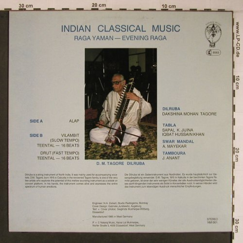 Raga Yaman: Evening Raga, vg+/m-, Nataraj(NM 001), D, 1985 - LP - X6824 - 12,50 Euro