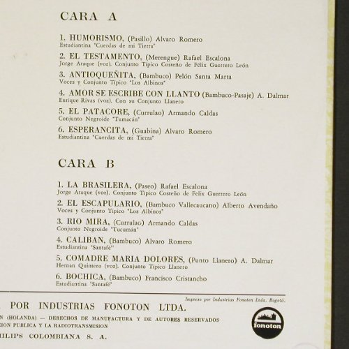 V.A.Cafe-Colombia Y Su Musica: Vol.2, 12 Tr. Mono, Philips(P 631821 L), Colombia,  - LP - C401 - 7,50 Euro