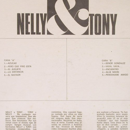 Nelly & Tony, Hermanos: Los Hermanos Nelly & Tony, Exito(LPV-1026), Venezuela,  - LP - C4984 - 6,00 Euro
