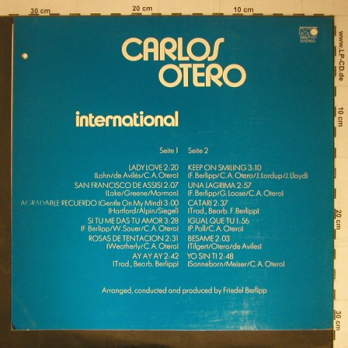 Otero,Carlos: International, Cut out, Metron.(SMLP 057), D, 72 - LP - C5395 - 6,00 Euro