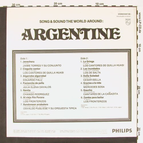 V.A.Argentine: Songs & Sound The Around, Philips(6347 196), NL, 73 - LP - C70 - 5,00 Euro