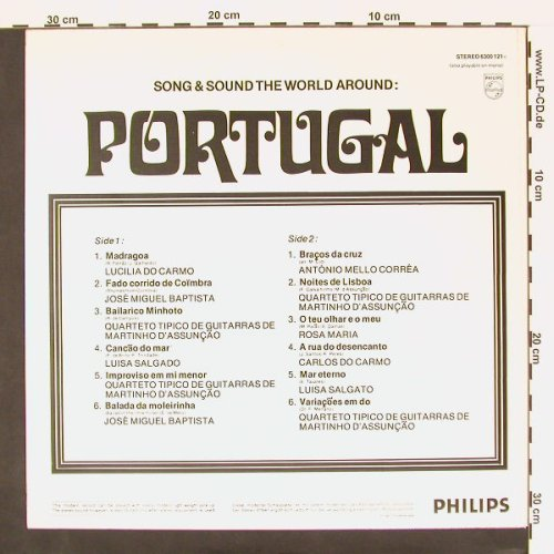 V.A.Portugal: Songs & Sound The Around, Philips(6300 121), NL,  - LP - C77 - 5,00 Euro