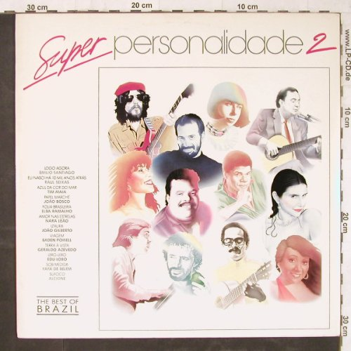 V.A.Super Personalidade: 2, The Best of Brasil, Philips(842 424-1), Brasil, 1990 - LP - E5962 - 6,00 Euro