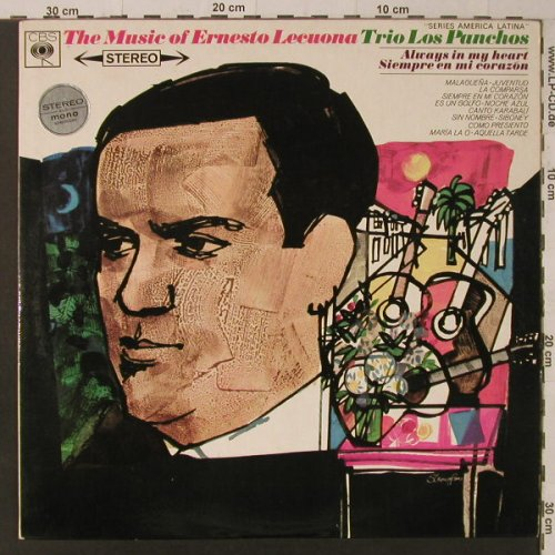 Trio Los Panchos: The Music of Ernesto Lecuona, CBS(SBPG 62 597), UK, WOC, 1966 - LP - F5674 - 9,00 Euro