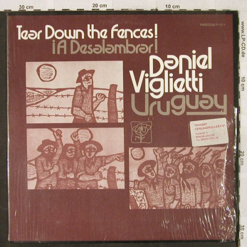Viglietti,Daniel: Uruguay, Tear down the Fences!, Paredon Rec.(P-1011), US, 1973 - LP - H3253 - 7,50 Euro