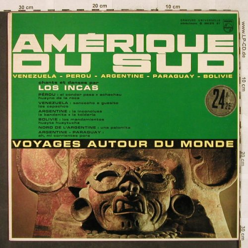 Los Incas: Amerique du Sud, Philips(844.879 BY), F,  - LP - H3290 - 5,50 Euro