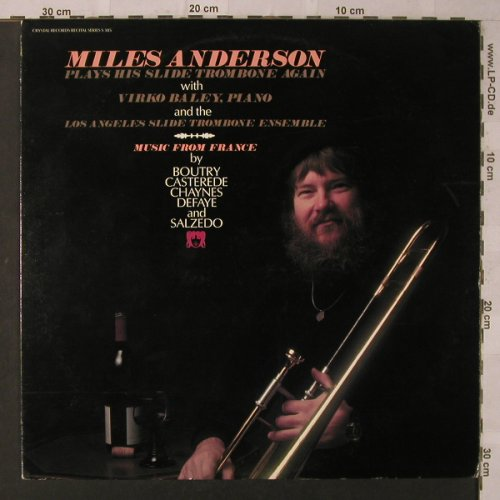 Anderson,Miles: Plays His Slide Trombone Again, Crystal(S 385), US, 1979 - LP - K6896 - 12,50 Euro