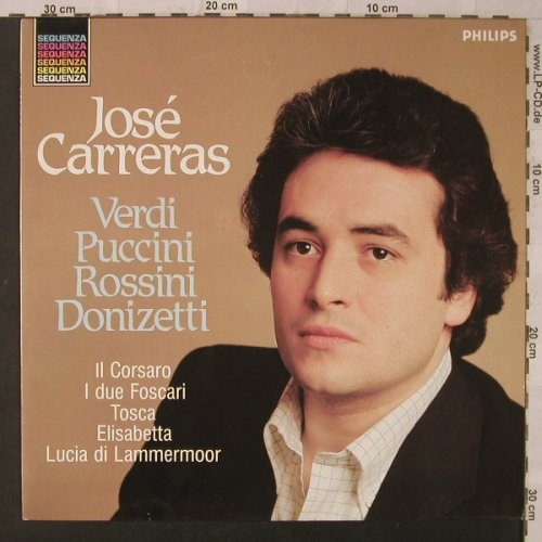 Carreras,Jose: Verdi Puccini Rossini Donizetti, Philips(6527 193), NL, 1982 - LP - K7013 - 5,00 Euro