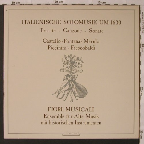 V.A.Italienische Solomusik Um 1630: 11 Tr., Recreation(TGS 302), D, 1982 - LP - K7261 - 7,50 Euro