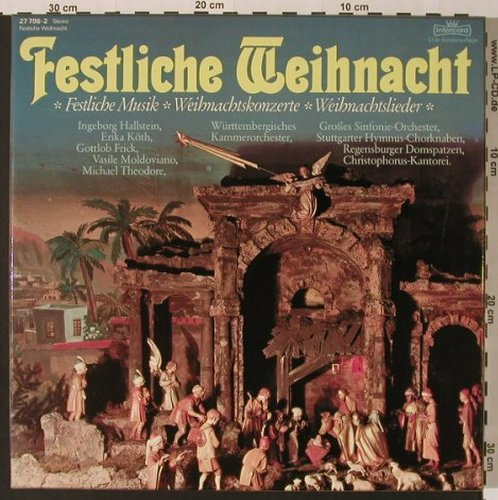 V.A.Festliche Weihnacht: 36 Tr., Box, Club-Ed., Intercord(27 796-2), D, 1976 - 3LP - K7359 - 9,00 Euro