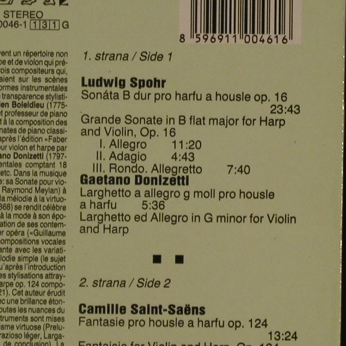 Suk,Josef & Dagmar Platilova: Compositions For Violin And Harp, Supraphon(11 0046-1), CSSR, 1986 - LP - K7725 - 6,00 Euro