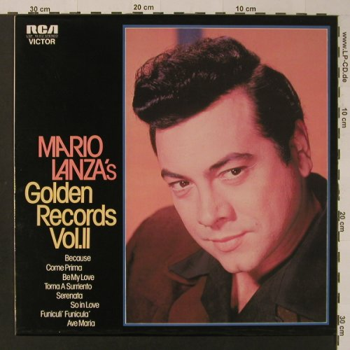 Lanza,Mario: Golden Records, Vol.2, RCA(LSP 10 412), D, 1973 - LP - K7811 - 5,00 Euro