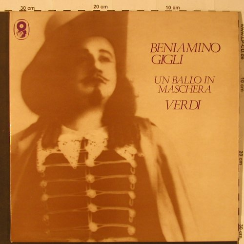 Gigli,Beniamino: Un Ballo in Maschera, 1943,Ri, Foc, World Record Club(SH 131/2), UK-Mono,  - 2LP - K7861 - 9,00 Euro