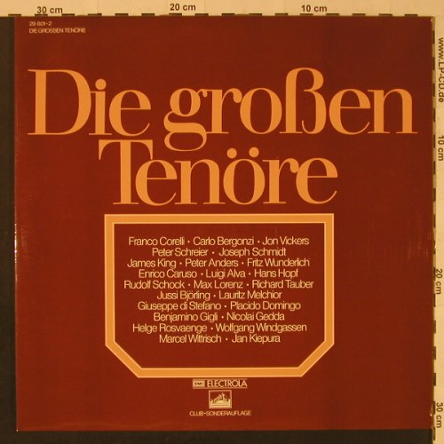 V.A.Die Grossen Ten�re: 24 Tr.,Foc, DSC-Ed., EMI(29 601-2), D,  - 2LP - K8053 - 6,00 Euro