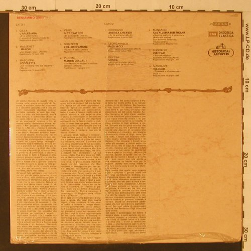 Gigli,Beniamino: Historical Archives, FS-New, EMI(053-00727), I,  - LP - K8655 - 12,50 Euro