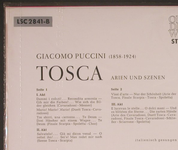 Puccini,Giacomo: Tosca-Highlights, ital.,  FS-New, RCA Victor Red Seal(LSC 2841-B), D,  - LP - K9116 - 12,50 Euro