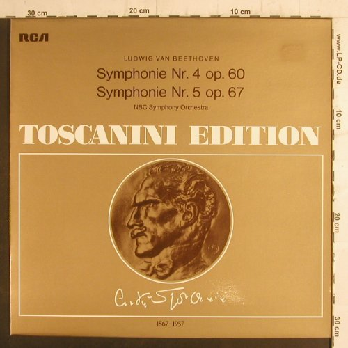 Beethoven,Ludwig van: Sinfonie Nr.4, op.60,Nr.5,NBC Orch., RCA Toscanini Ed.(AT 128), D, 74 - LP - K9170 - 6,00 Euro