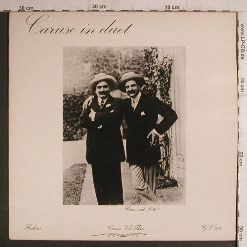 Caruso,Enrico: In Duet (Volume Three), Rubini Collection(GV 542), UK,vg+/vg+,  - LP - K9264 - 4,00 Euro