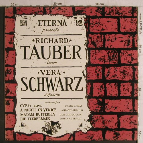 Tauber,Richard-Vera Schwarz: Same, Gipsy Love, A Night in Venice, Eterna(727), US, vg+m-,  - LP - K9320 - 5,00 Euro