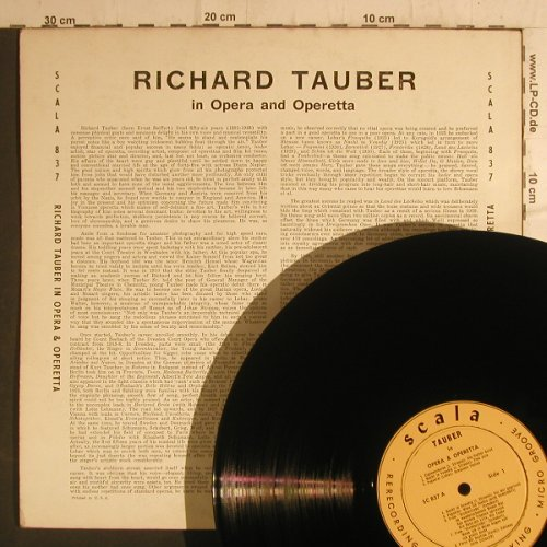 Tauber,Richard: In Opera & Operetta, Scala(837), US,  - LP - K9340 - 6,00 Euro